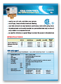 Click Control On/Off Motorized Valve